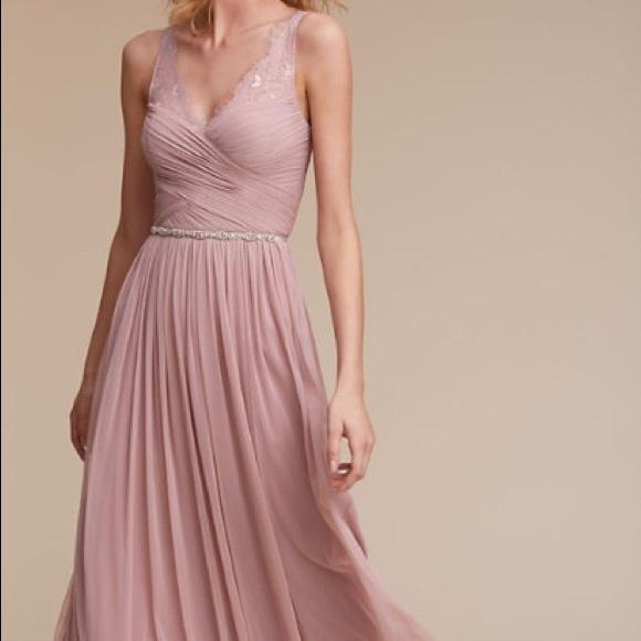 0aaa97c6963 NWT Anthropologie BHLDN Rose Quartz Fleur Dress
